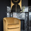 Swivel armchair - gold velvet