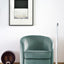 Swivel armchair - aqua