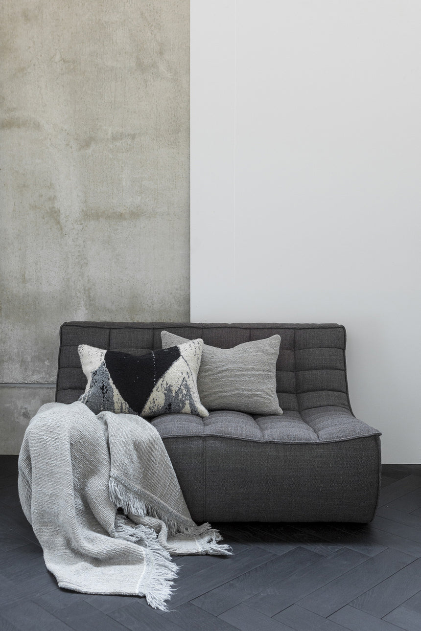 N701 sofa - 2 seater dark grey