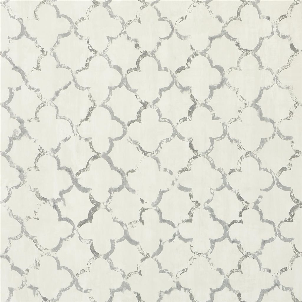 Chinese Trellis - Slate Wallpaper