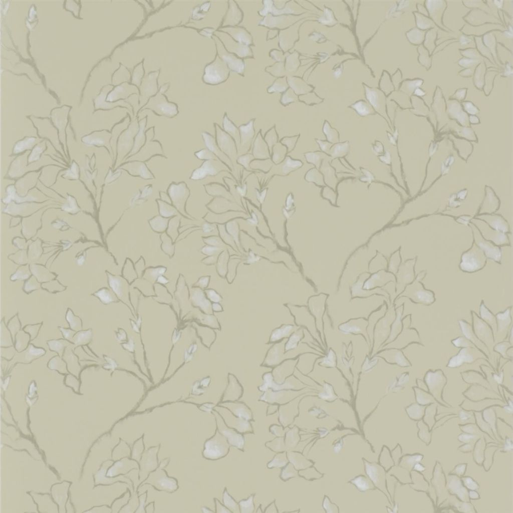 Magnolia Tree - Linen Wallpaper