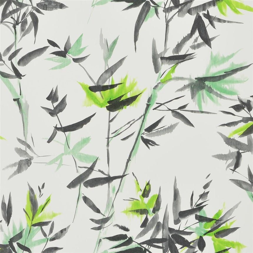 Bamboo - Lime Wallpaper