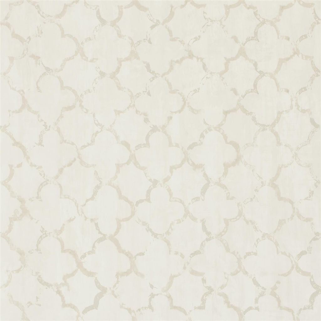 Chinese Trellis - Pearl Wallpaper