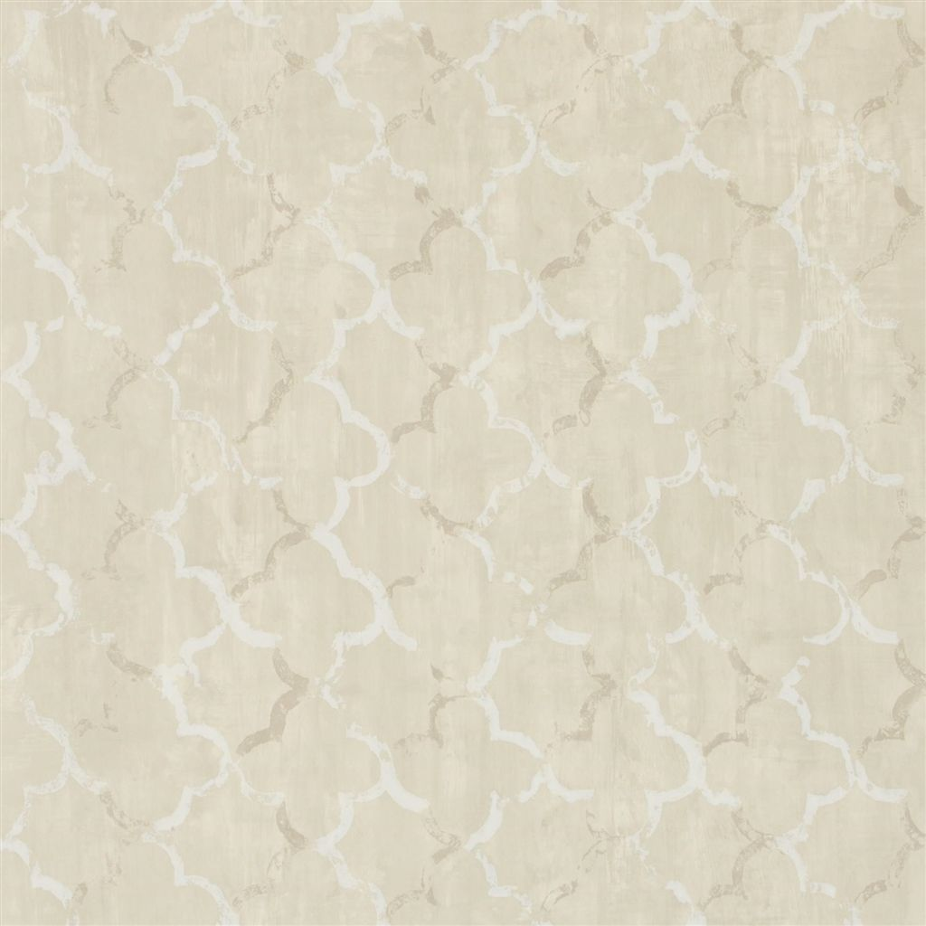 Chinese Trellis - Linen Wallpaper