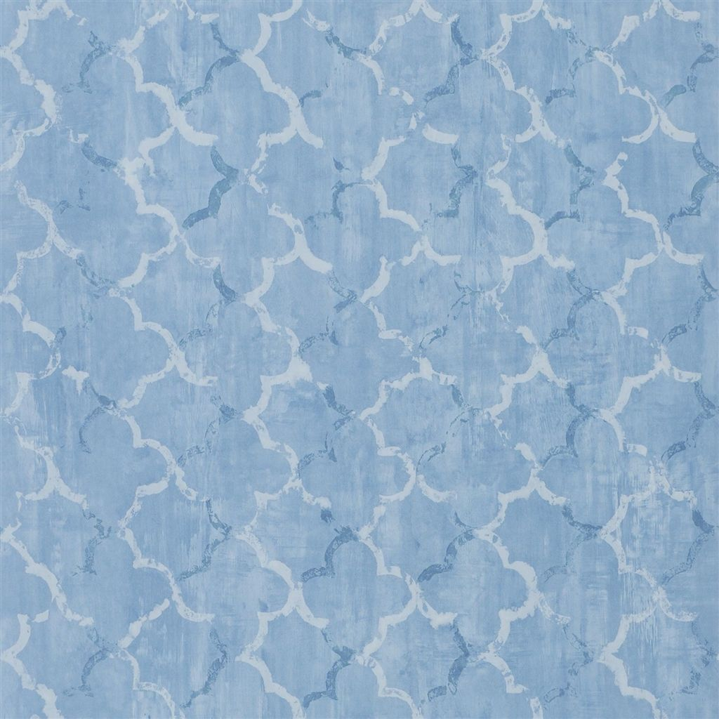 Chinese Trellis - Cobalt Wallpaper