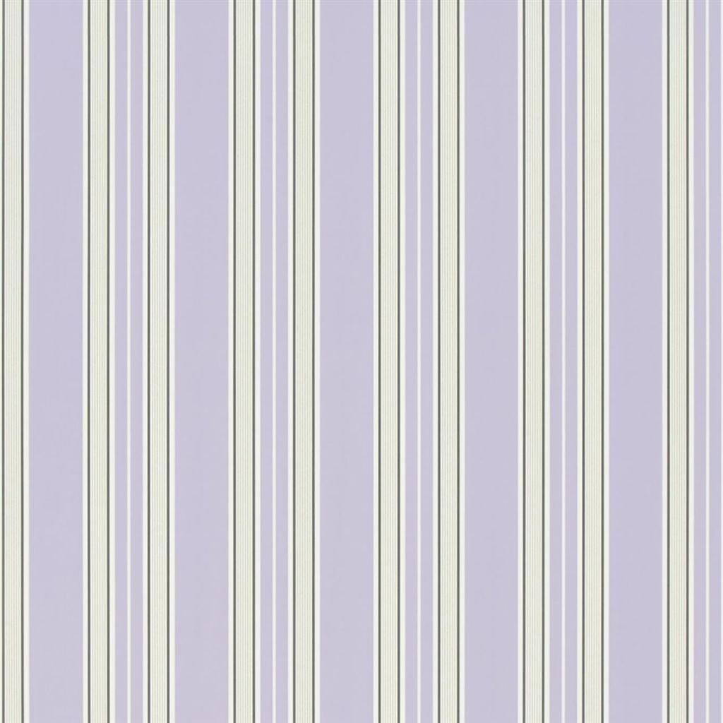 Pinstripe - Lilac Wallpaper