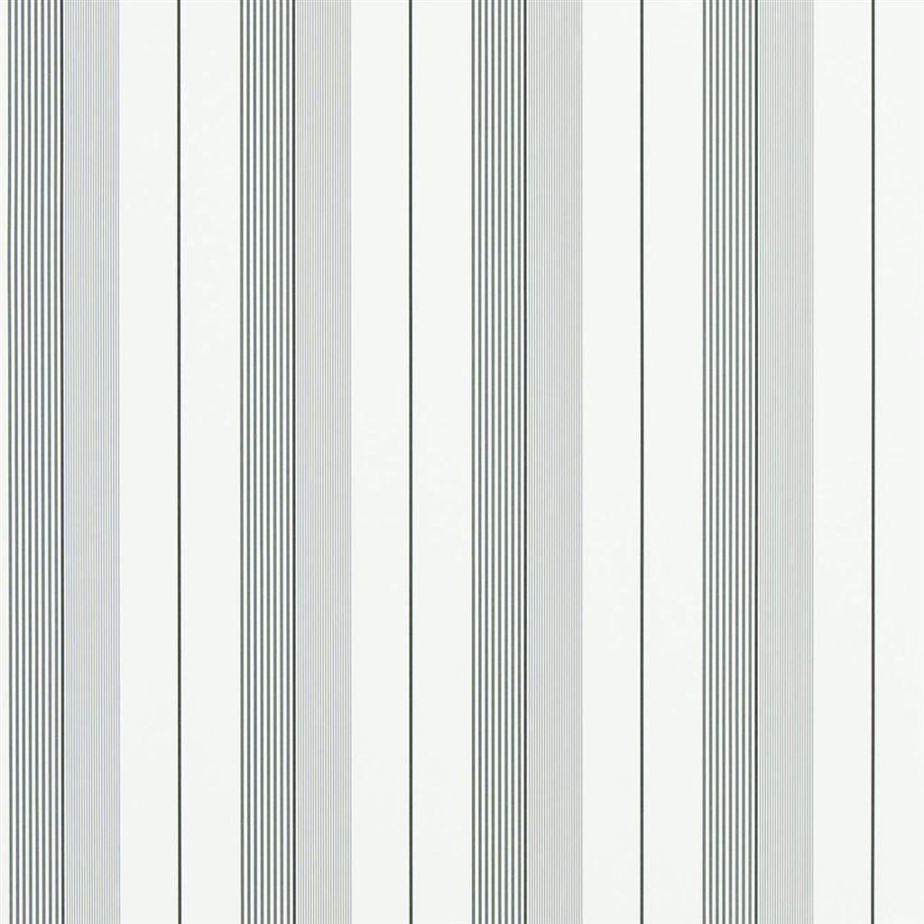Aiden Stripe - Black / Grey Wallpaper