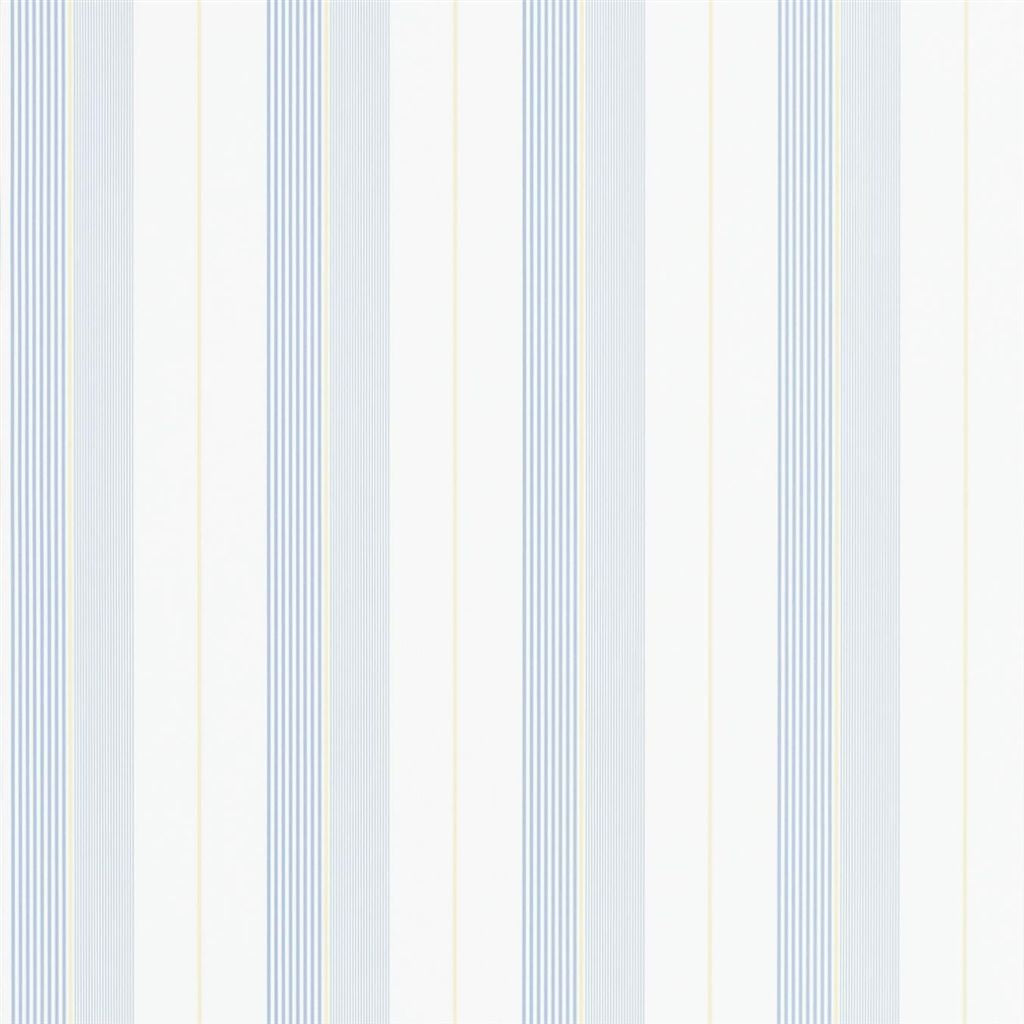 Aiden Stripe - Blue / Yellow Wallpaper