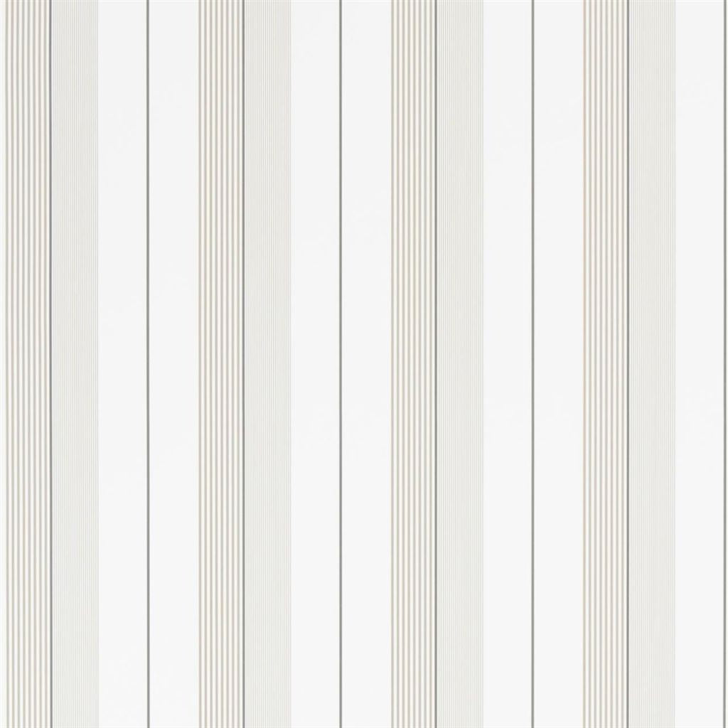 Aiden Stripe - Natural / White Wallpaper