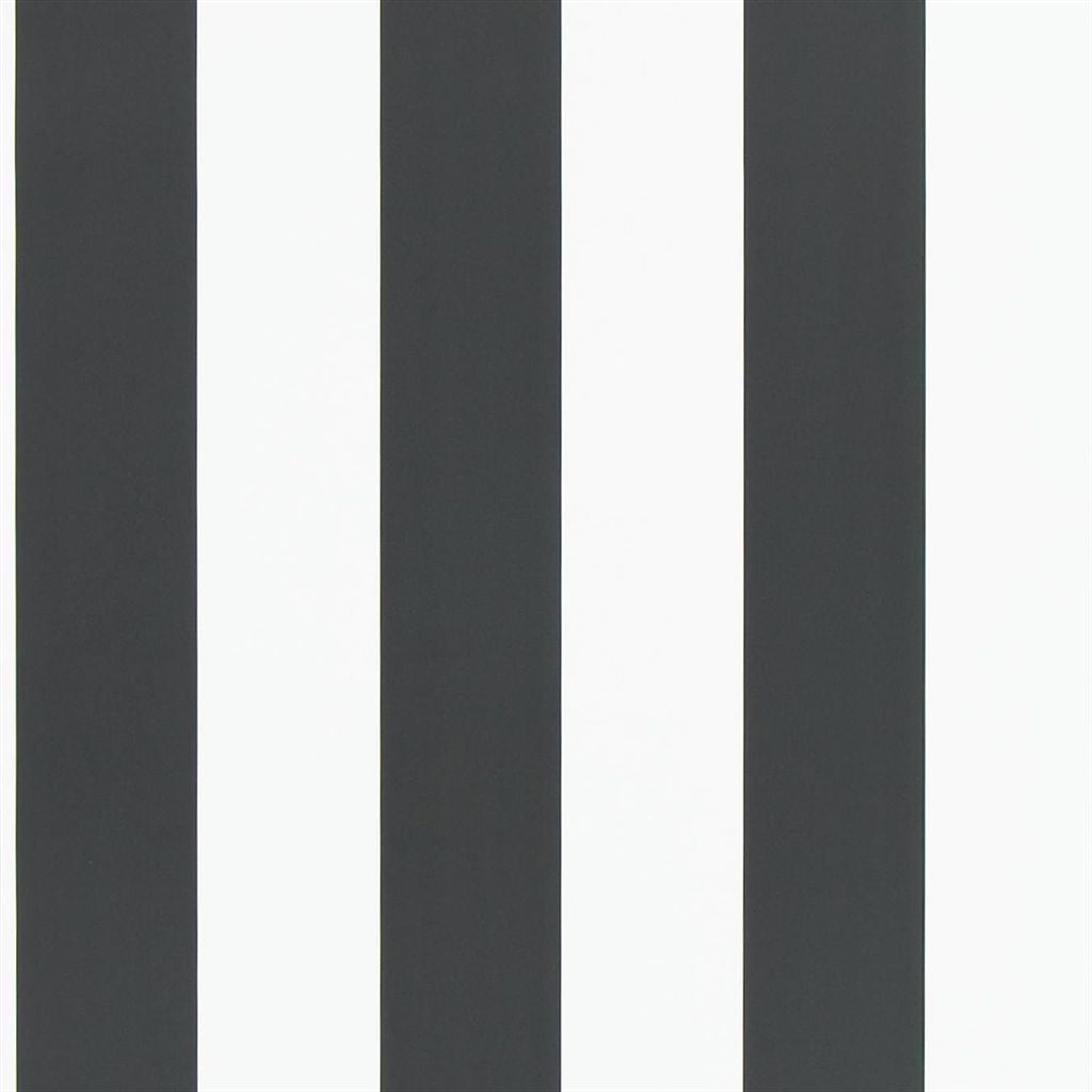 Spalding Stripe - Black / White Wallpaper