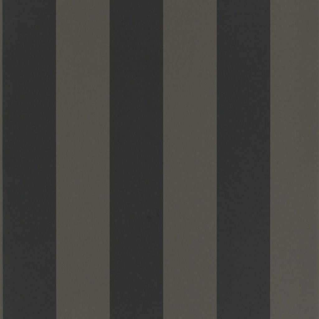 Spalding Stripe - Black / Black Wallpaper