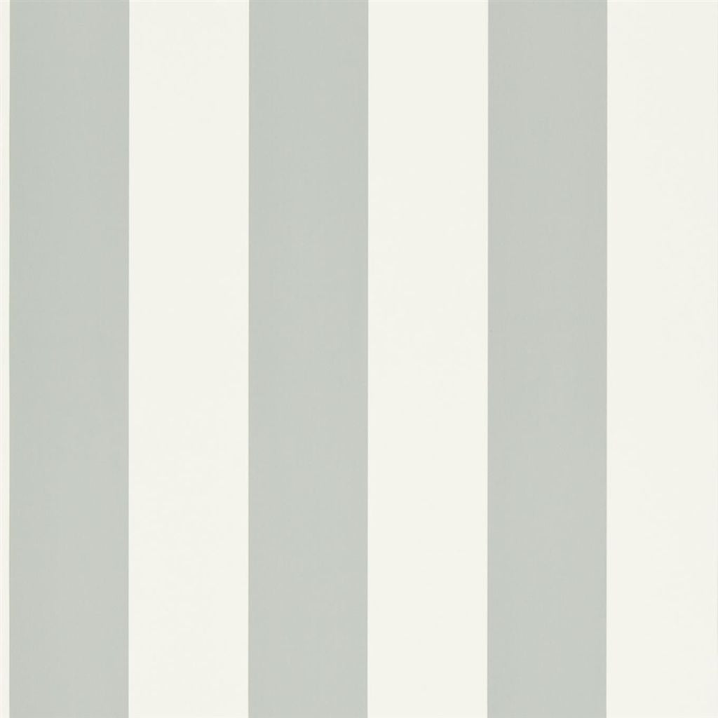 Spalding Stripe - White / Dove Wallpaper