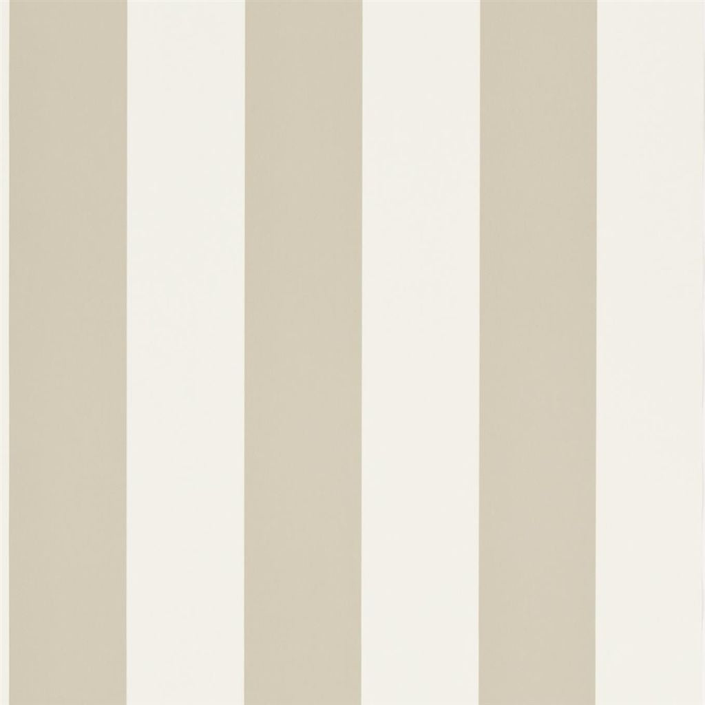 Spalding Stripe - Cream / Laurel Wallpaper