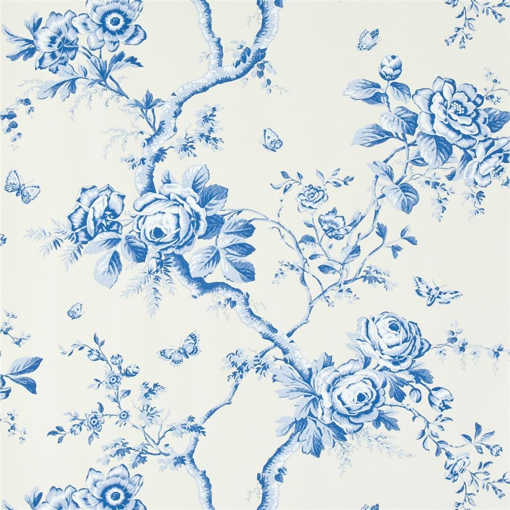 Ashfield Floral - Delft Wallpaper