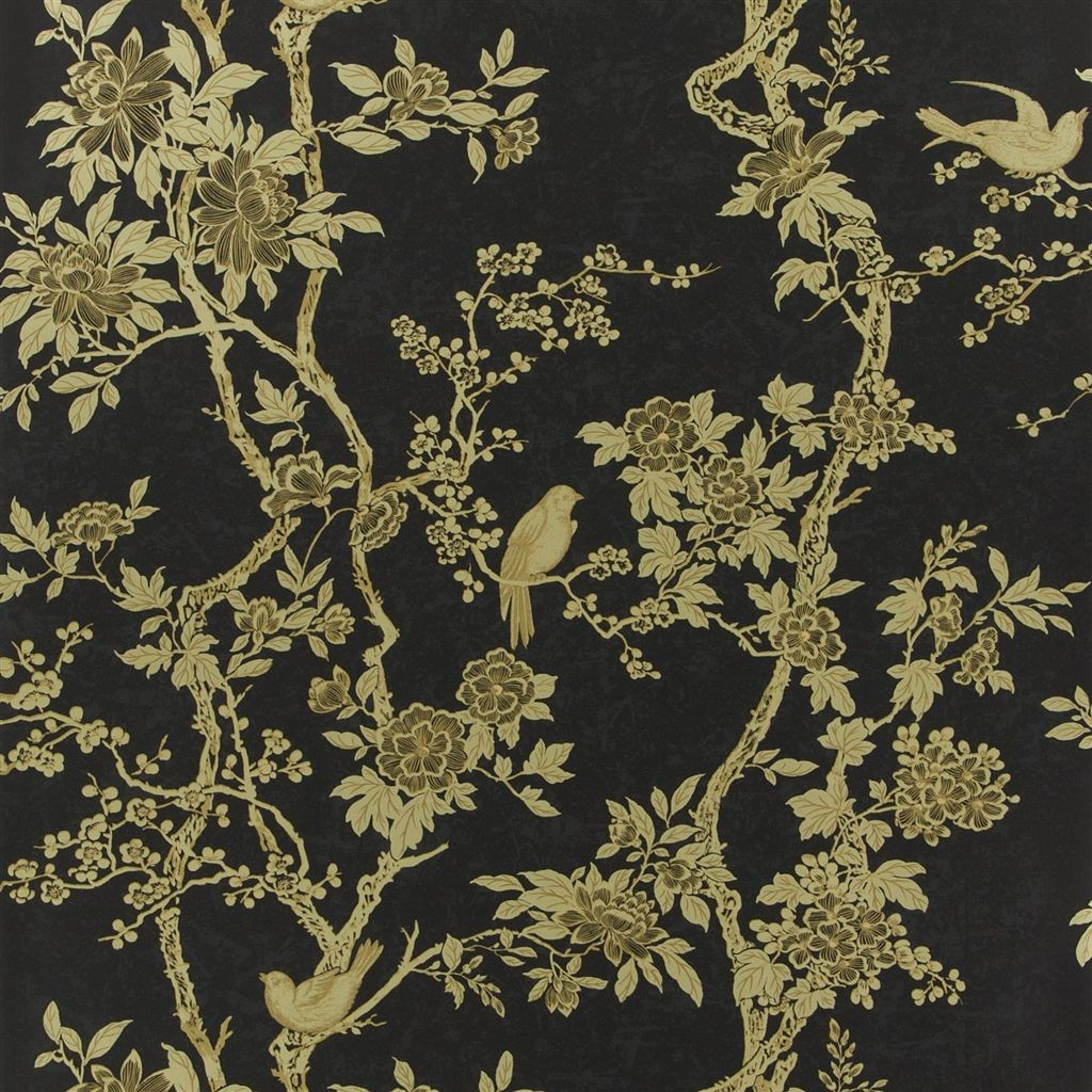 Marlowe Floral - Gilded Lacquer Wallpaper