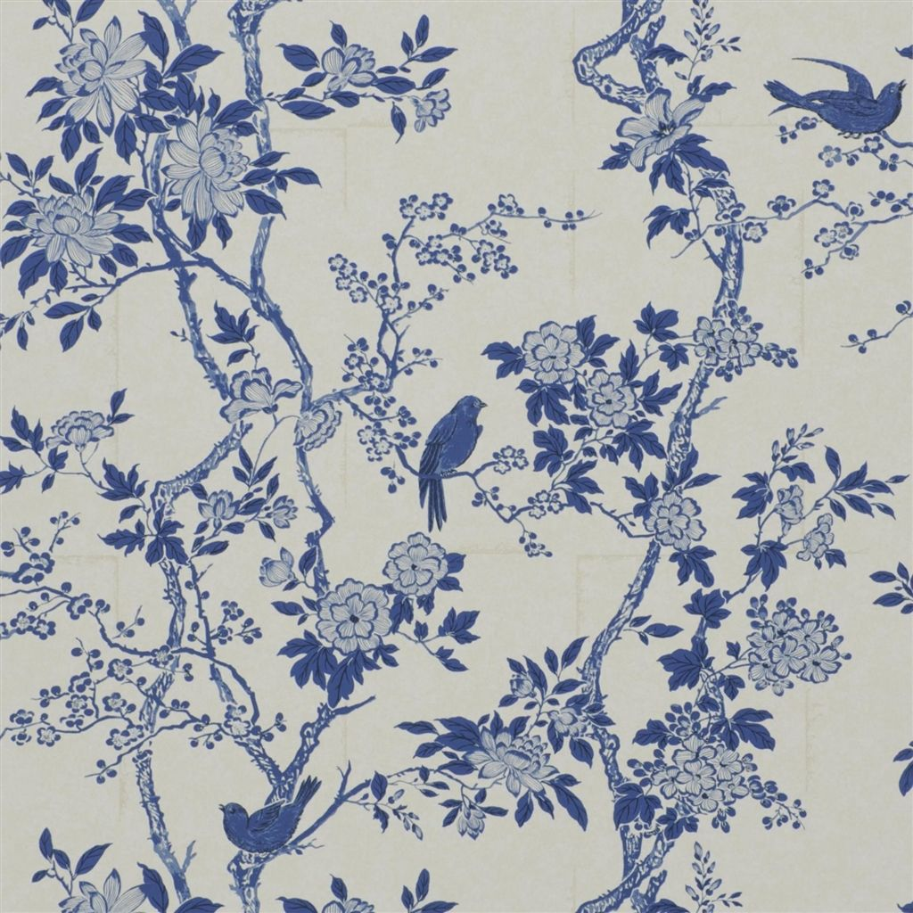 Marlowe Floral - Porcelain Wallpaper