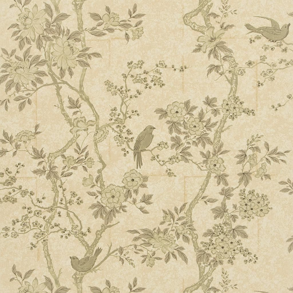 Marlowe Floral - Mother Of Pearl Wallpaper