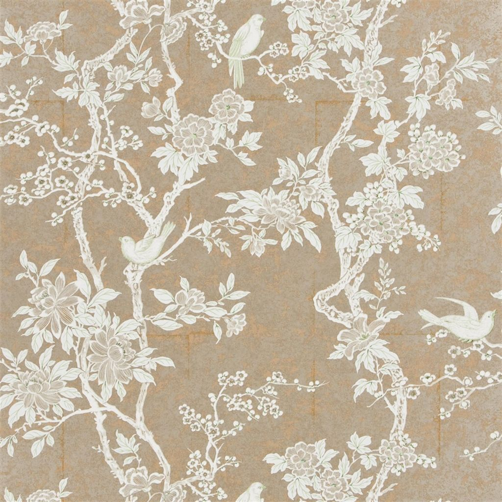Marlowe Floral - Sterling Wallpaper