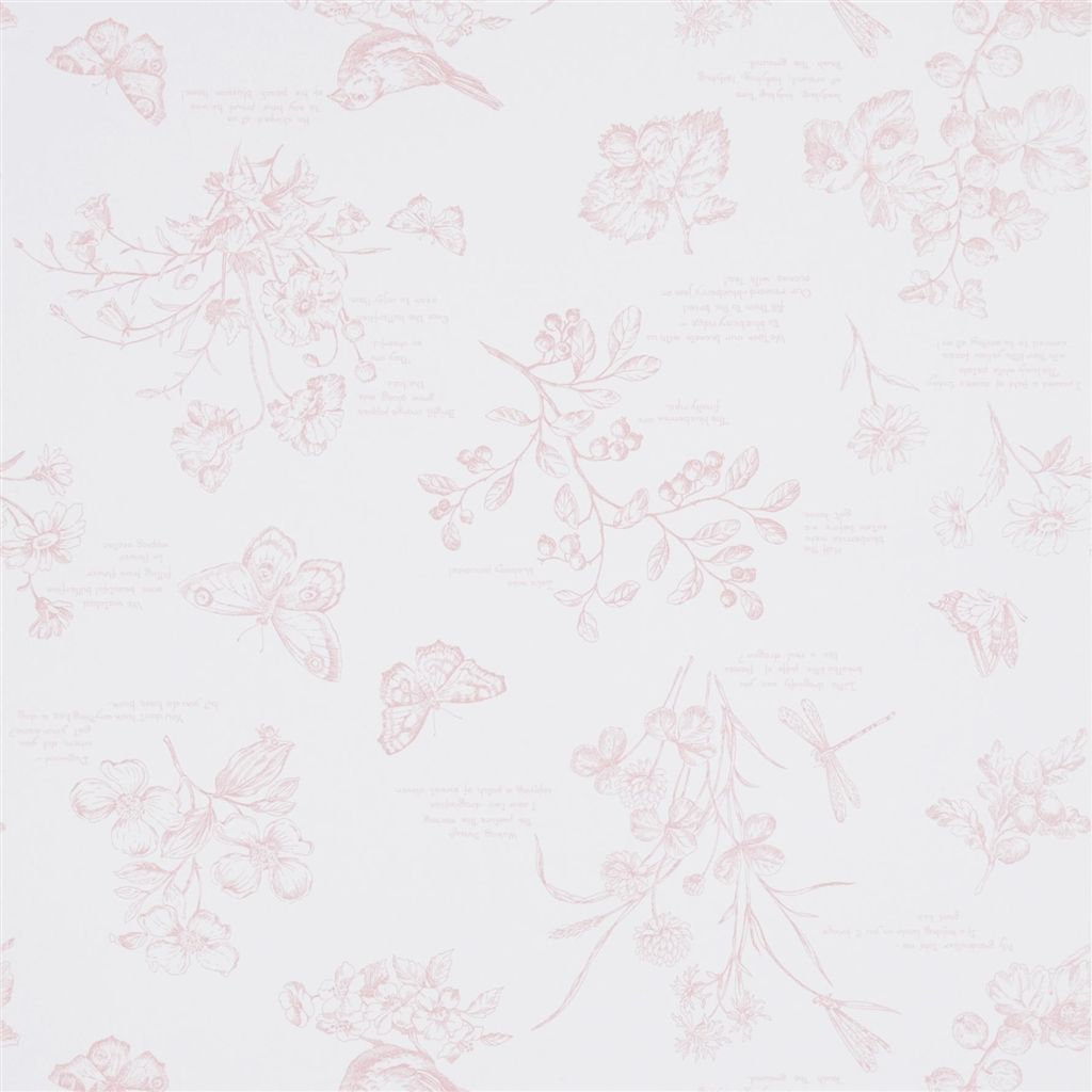 Nature Study Toile - Blossom Wallpaper