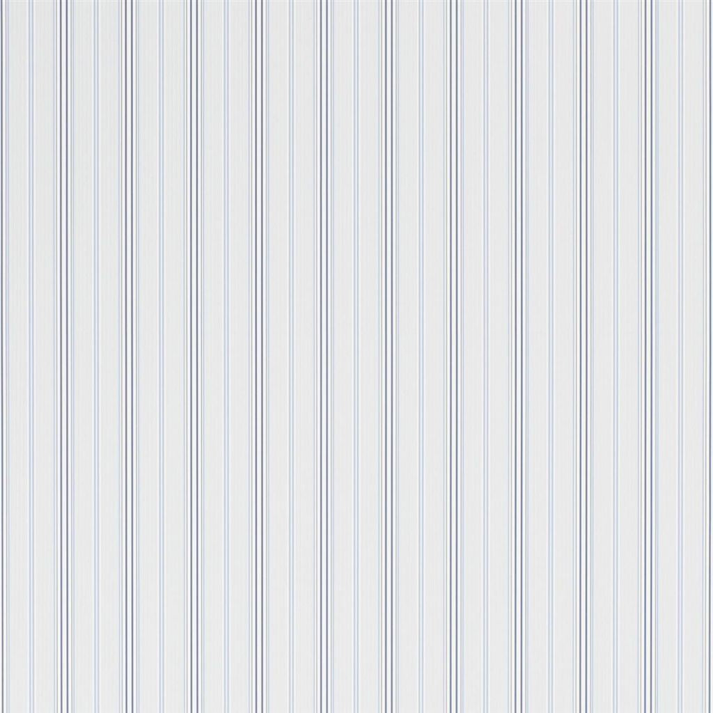 Pritchett Stripe - Blue Wallpaper