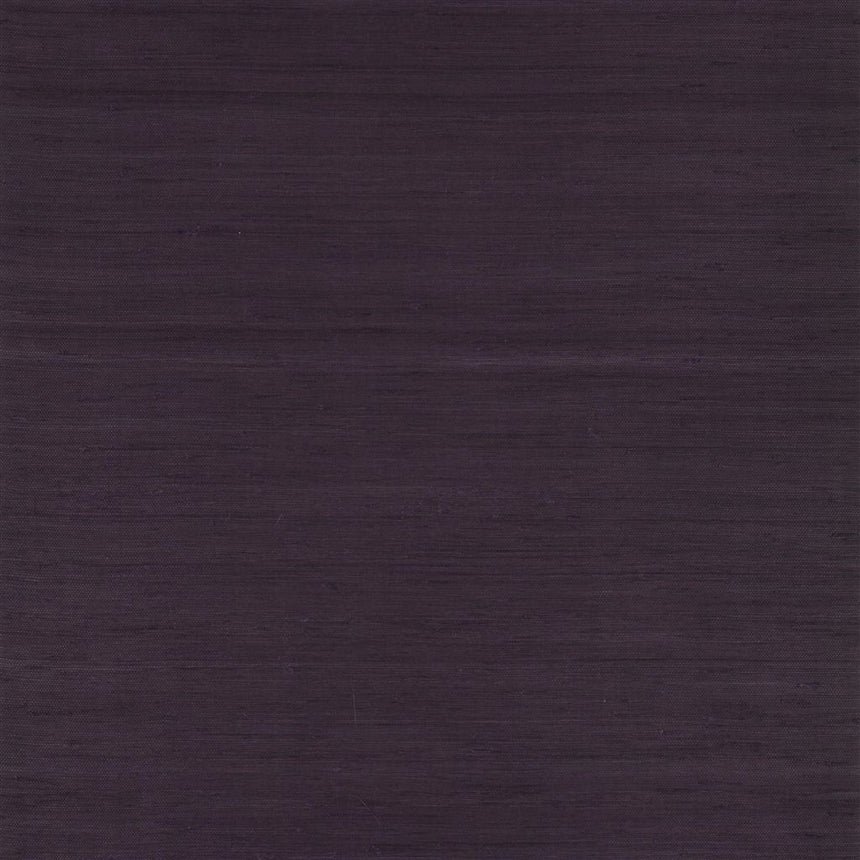 Painters Linen - Aubergine Wallpaper