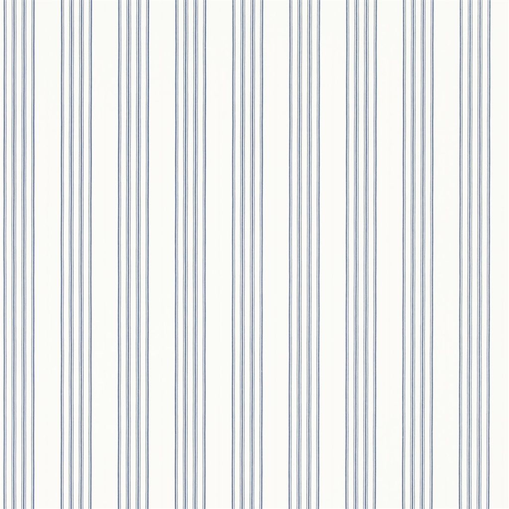 Palatine Stripe - Porcelain Blue Wallpaper