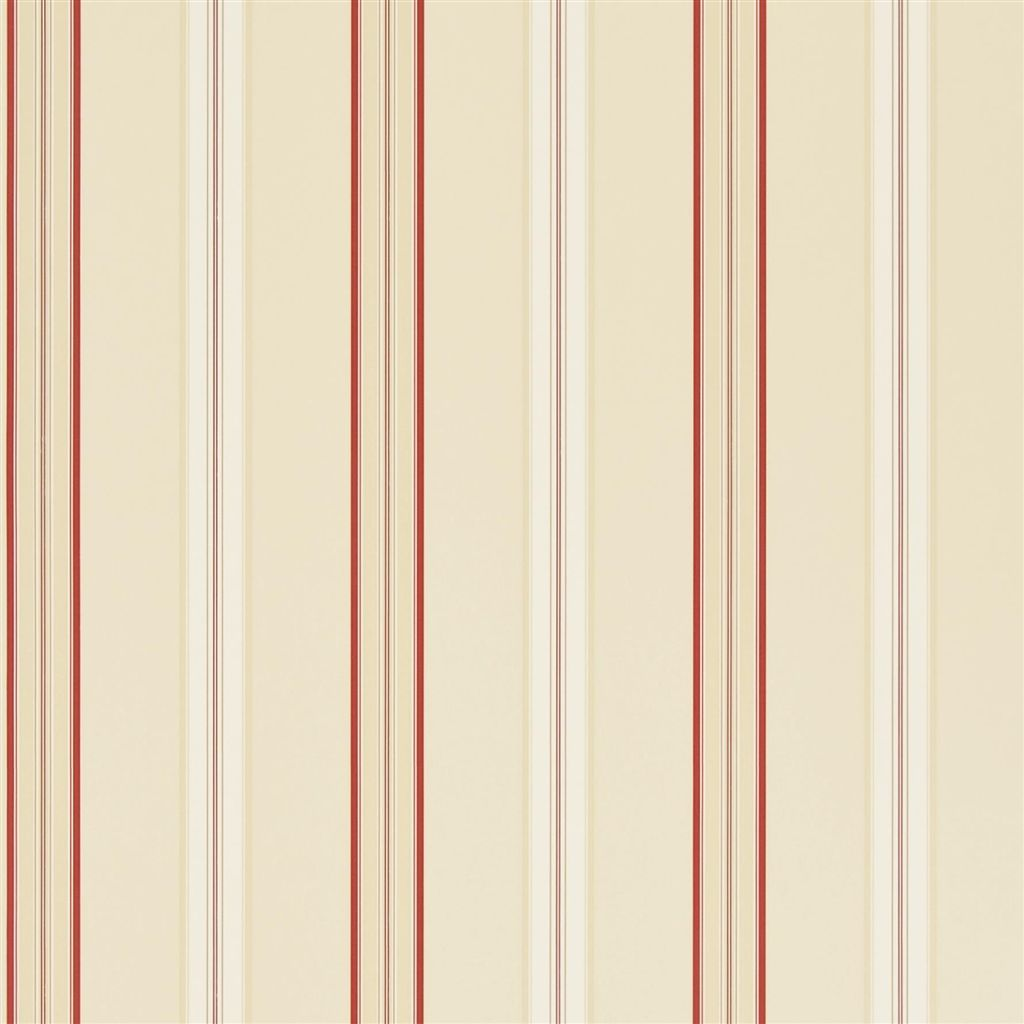 Dunston Stripe - Vermilion Wallpaper