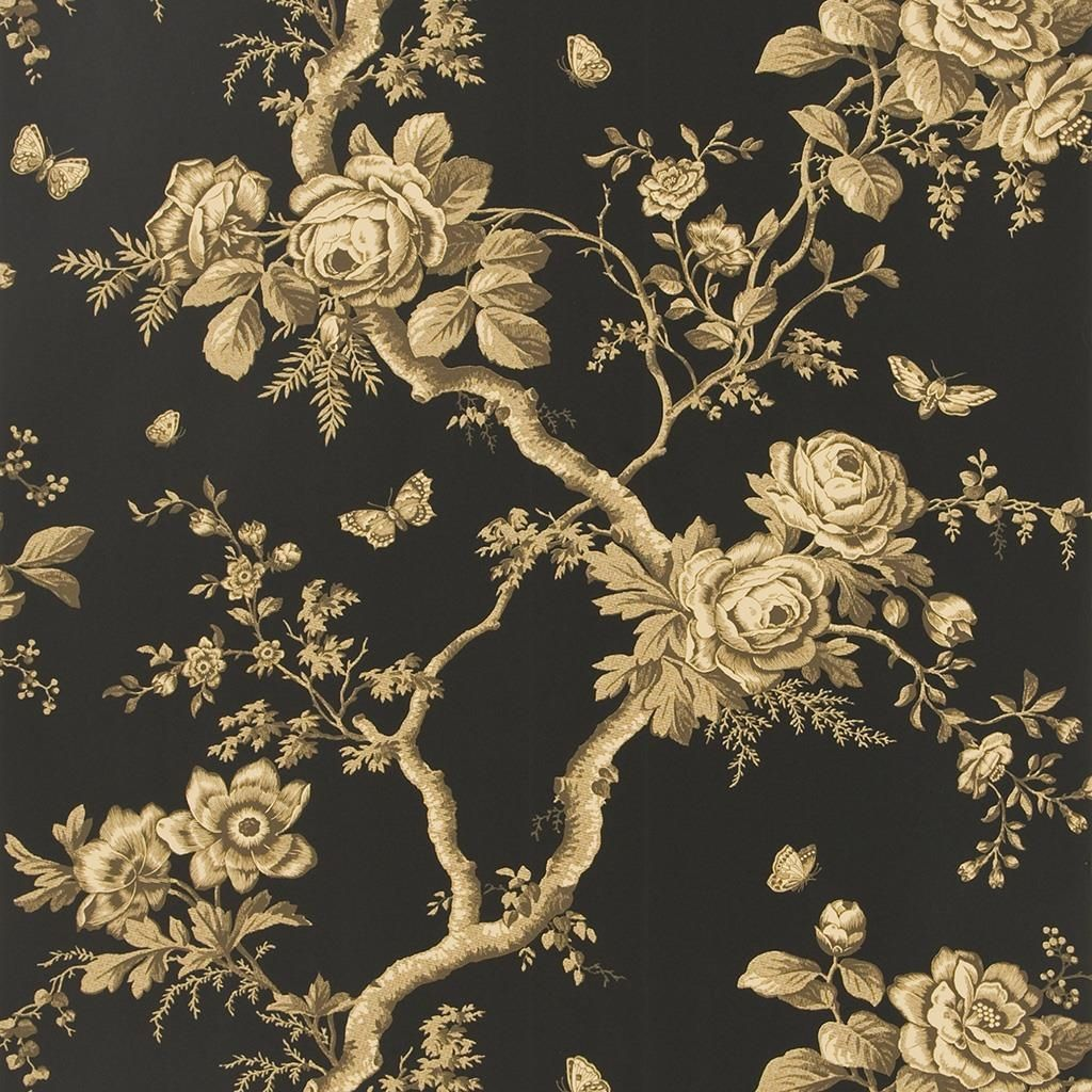 Ashfield Floral - Tobacco Wallpaper