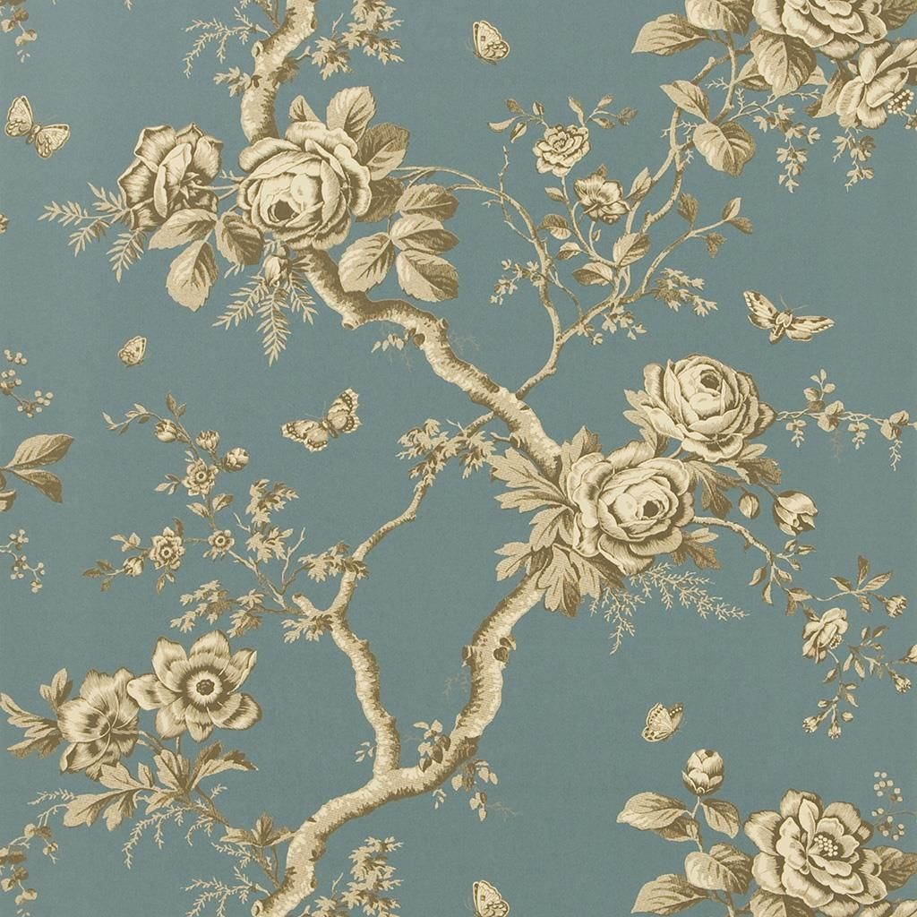 Ashfield Floral - Tourmaline Wallpaper