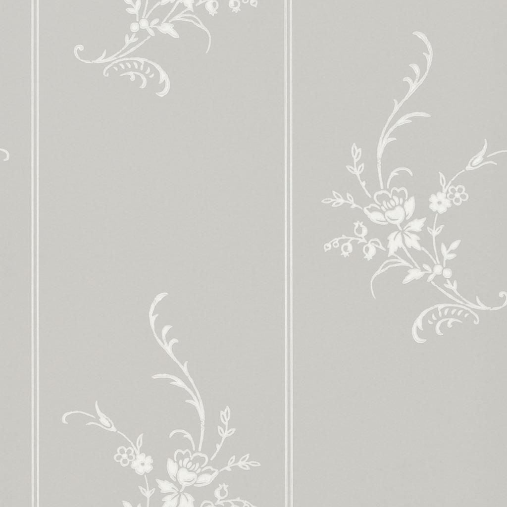 Elsinore Floral - Platinum Wallpaper