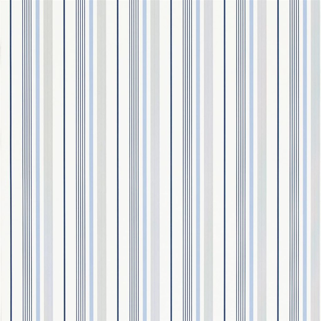 Gable Stripe - French Blue Wallpaper