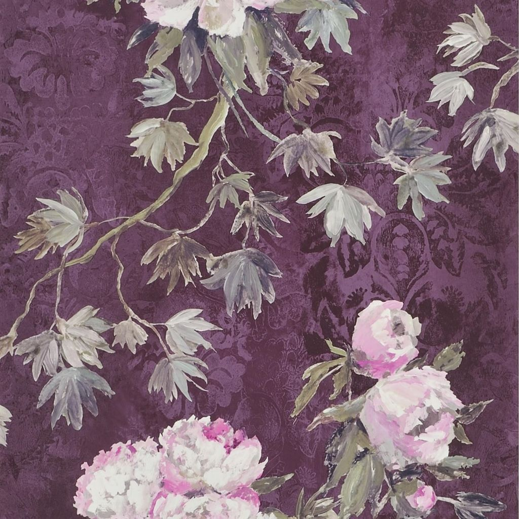 Floreale - Damson Wallpaper