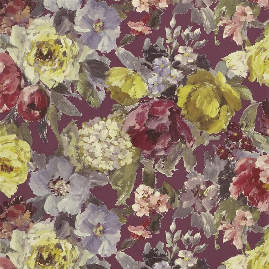Roseto - Damson Wallpaper