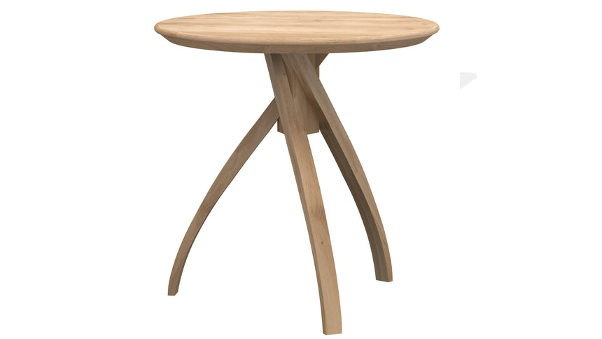 Oak Twist side table large