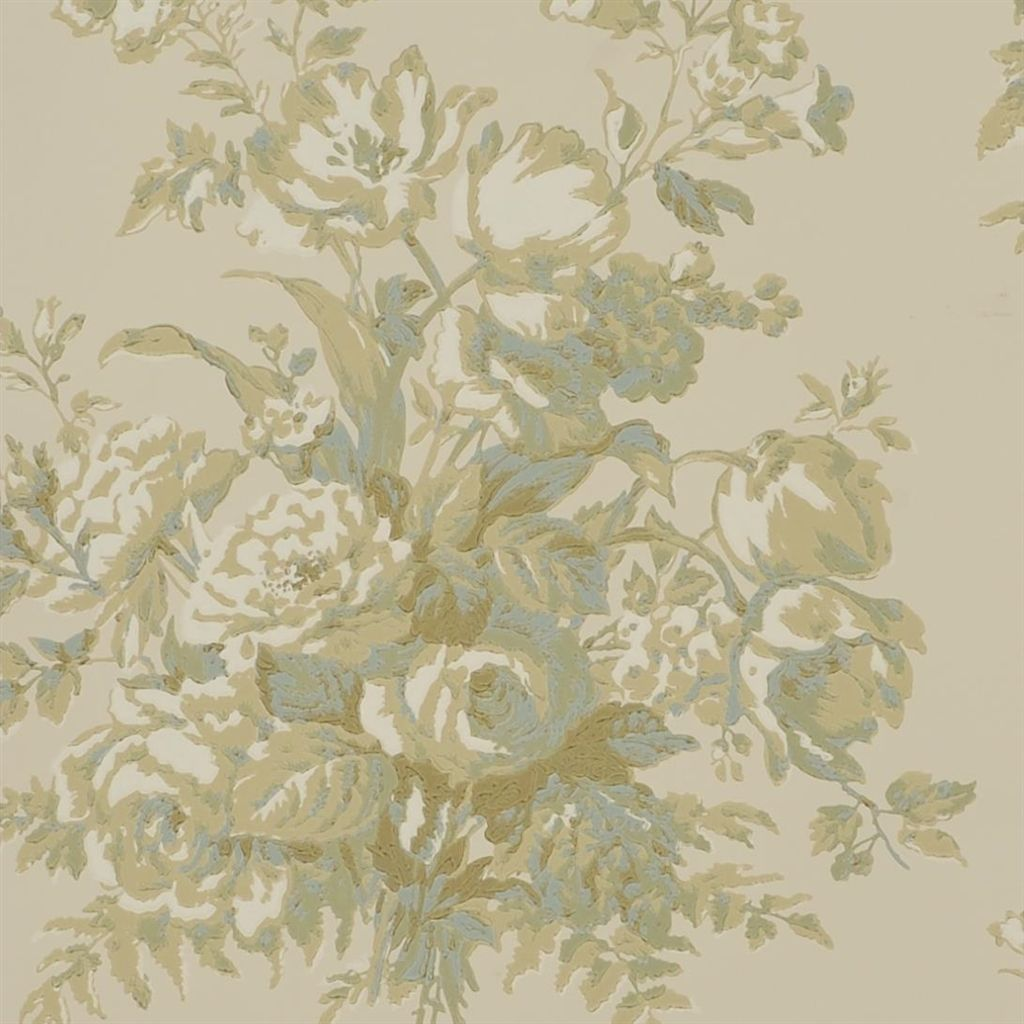 Francoise Bouquet - Parchment Wallpaper