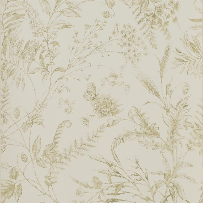 Fern Toile - Meadow Wallpaper