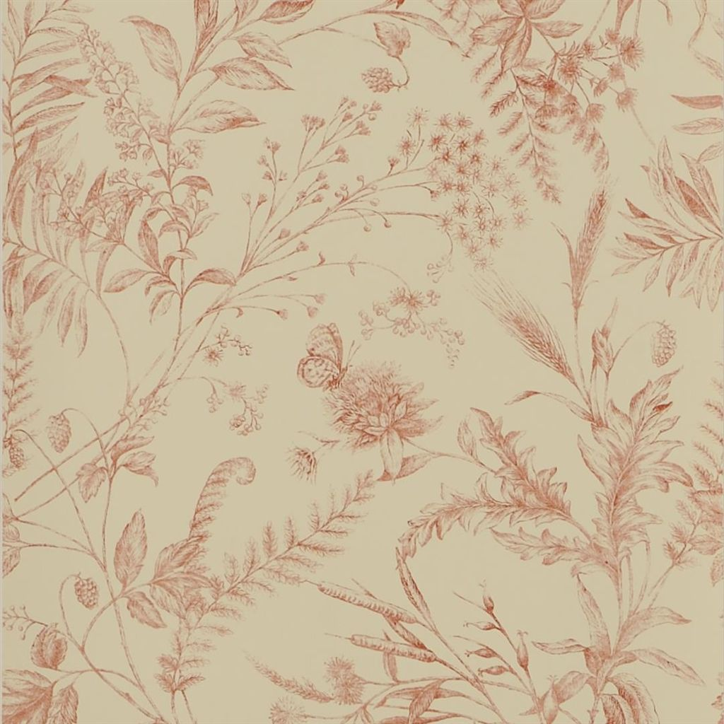 Fern Toile - Vintage Tea Wallpaper
