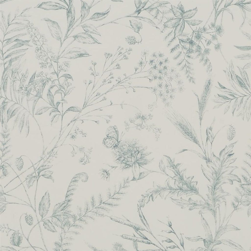 Fern Toile - Drawing Room Wallpaper
