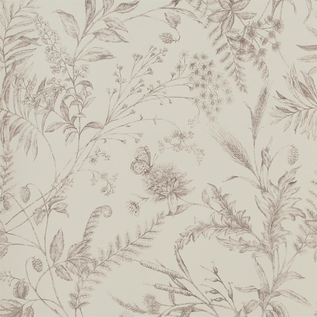 Fern Toile - Blossom Wallpaper