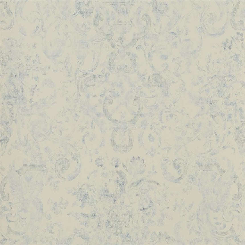Old Hall Floral - Porcelain Wallpaper
