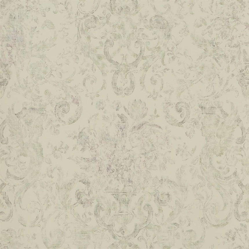 Old Hall Floral - Antique Rose Wallpaper