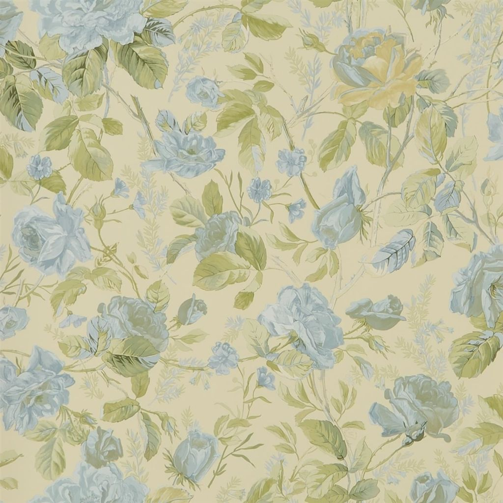 Marston Gate Floral - Blue Wallpaper