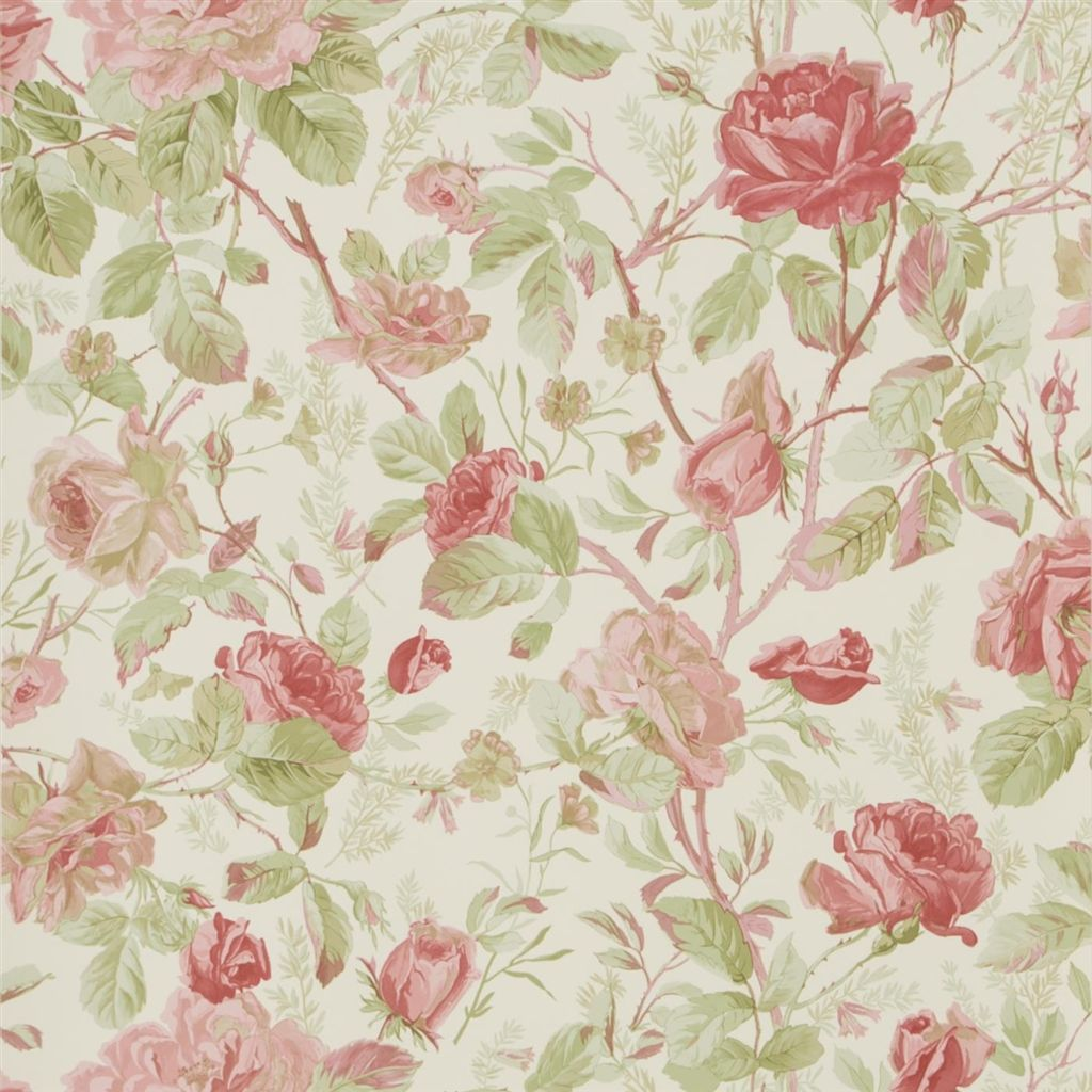Marston Gate Floral - Cameo Pink Wallpaper