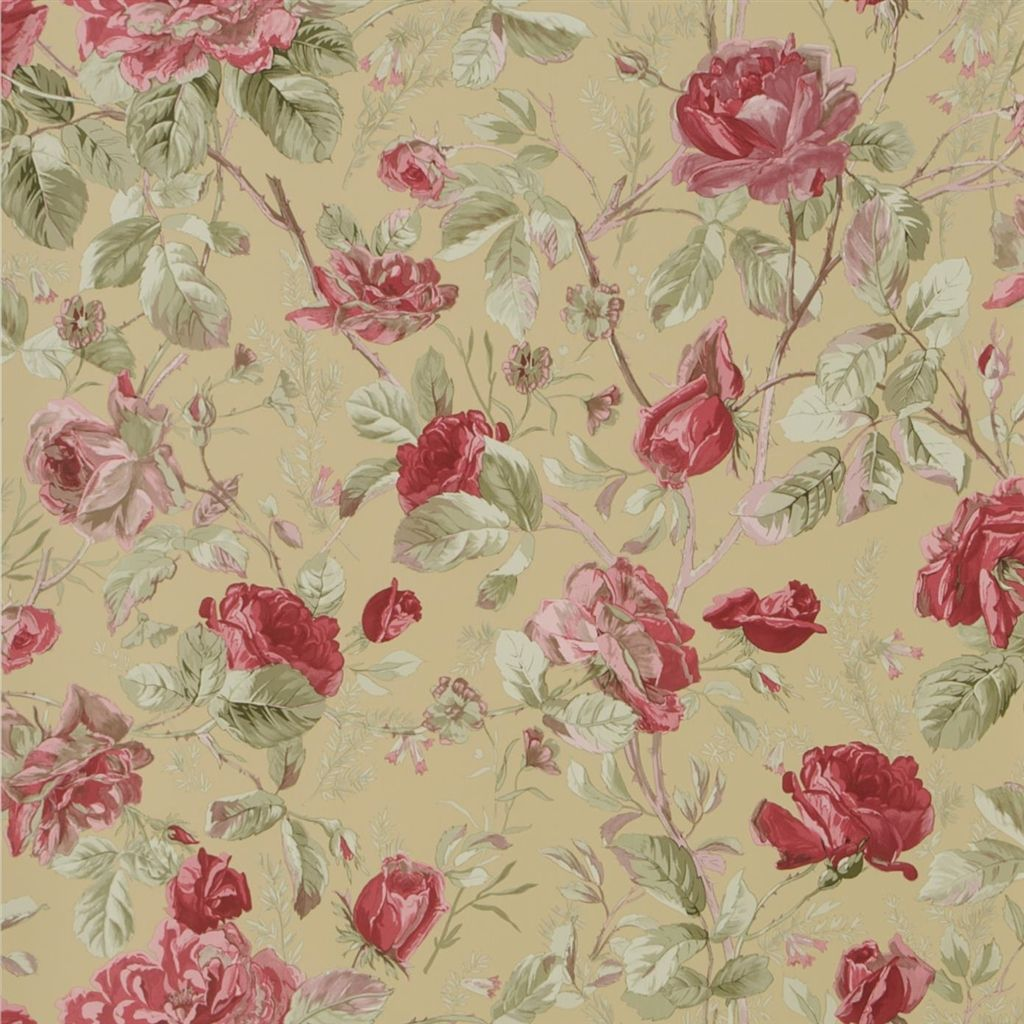 Marston Gate Floral - Tea Wallpaper