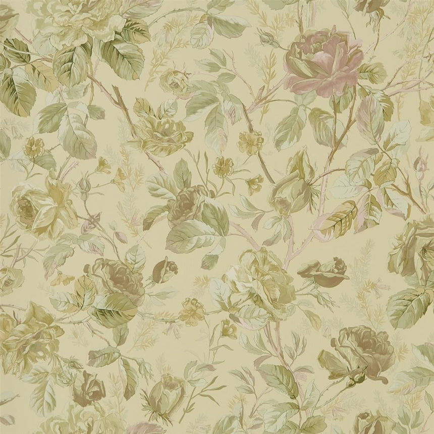 Marston Gate Floral - Vintage Rose Wallpaper