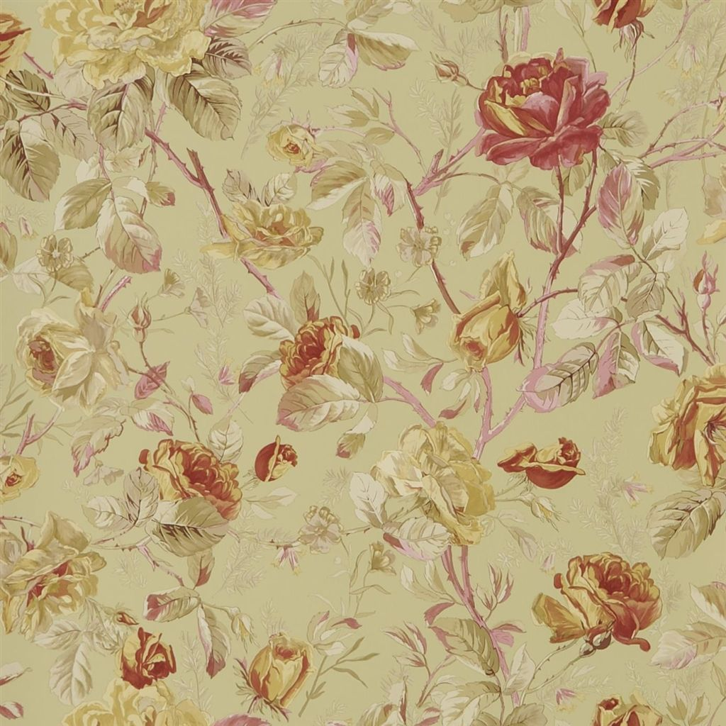 Marston Gate Floral - Celadon Wallpaper