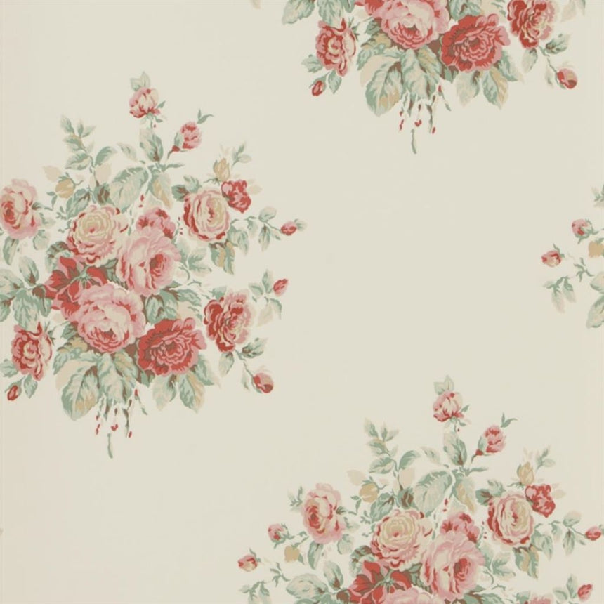 Wainscott Floral - Cream Wallpaper