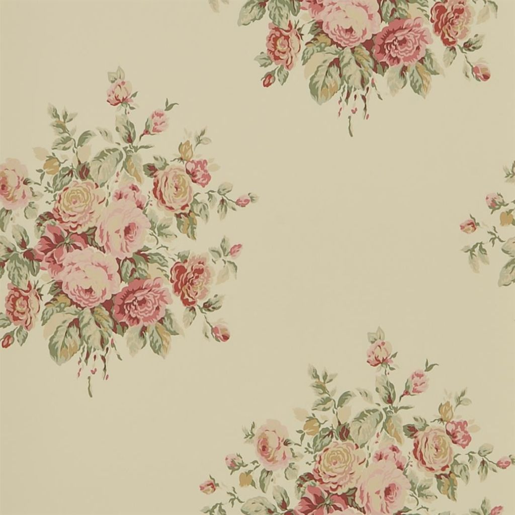Wainscott Floral - Tea Wallpaper