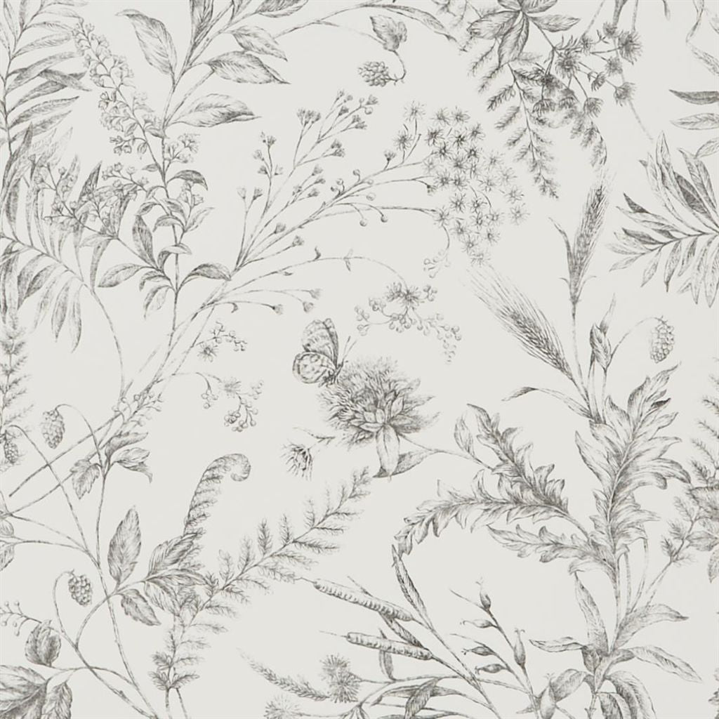 Fern Toile - Pencil Wallpaper
