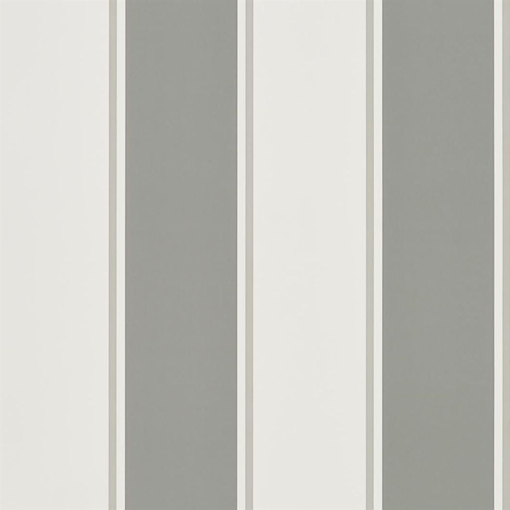 Mapleton Stripe - Graphite Wallpaper